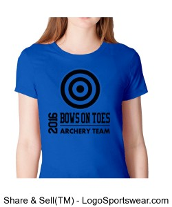 Shoot like a girl / Fine Jersey Short Sleeve Ladies American Apparel Tee Design Zoom