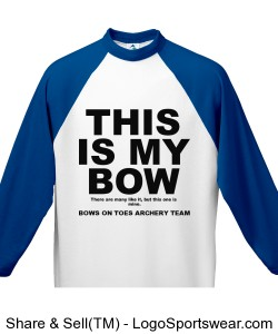 THIS IS MY BOW / Youth 3/4 Sleeve 50/50 Raglan Sleeve Shirt Design Zoom